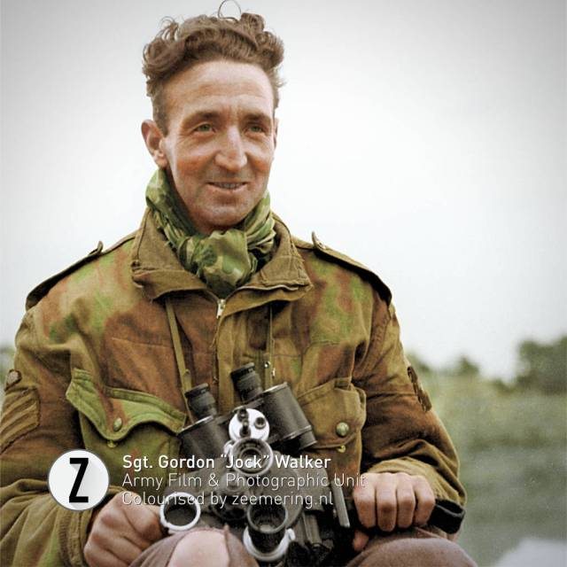 Ingekleurde foto's Market Garden. Sergeant Gordon Walker