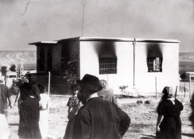 הבית בו משפחות יהודיות נשרפו חיים