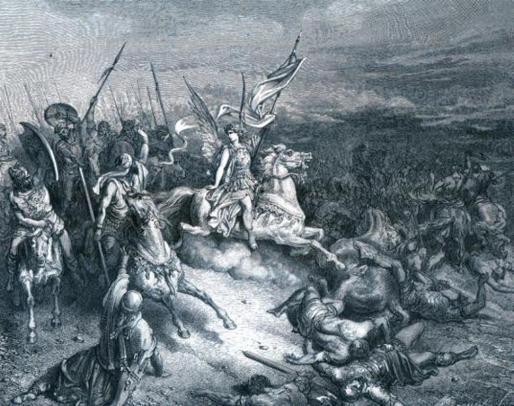נצחון יהודה המכבי על פי גוסטב דורה