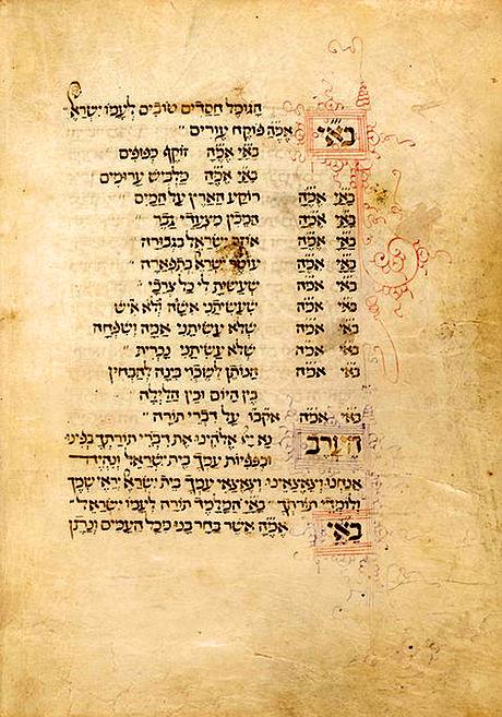 בסידור פרטי מ-1471 מאת אברהם פריצול, שהוזמן על ידי אלמנה. הברכות מותאמות לאישה שעשיתני אישה ולא איש