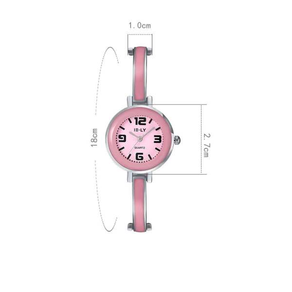 Zegarek    pink narrow small tiny watch różowy femme kobiecy ladies girl madchen dziewczęcy super superbe bright Uhr watch montre blanche malenkiy maliye chasy godinnik pastelle gold or