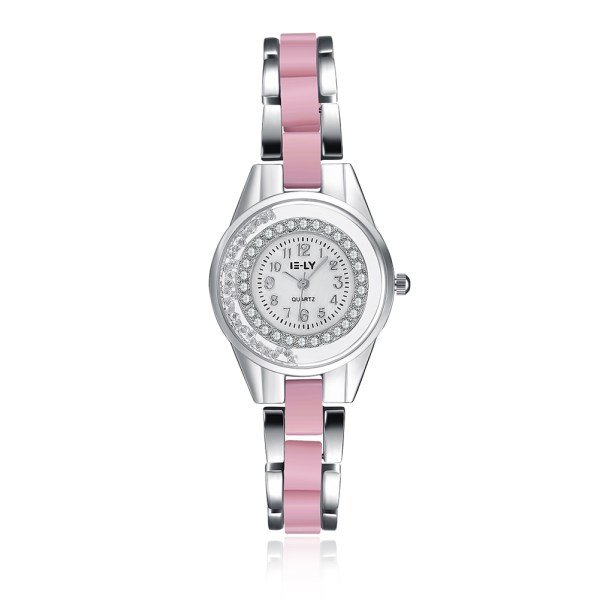 Zegarek    pink devochka babushka laska wife zena żona żony zeny ślub marriage super watch v pohode cool Glossy Light bright Uhr watch montre blanche yasniye chasy godinnik pastelle gold or