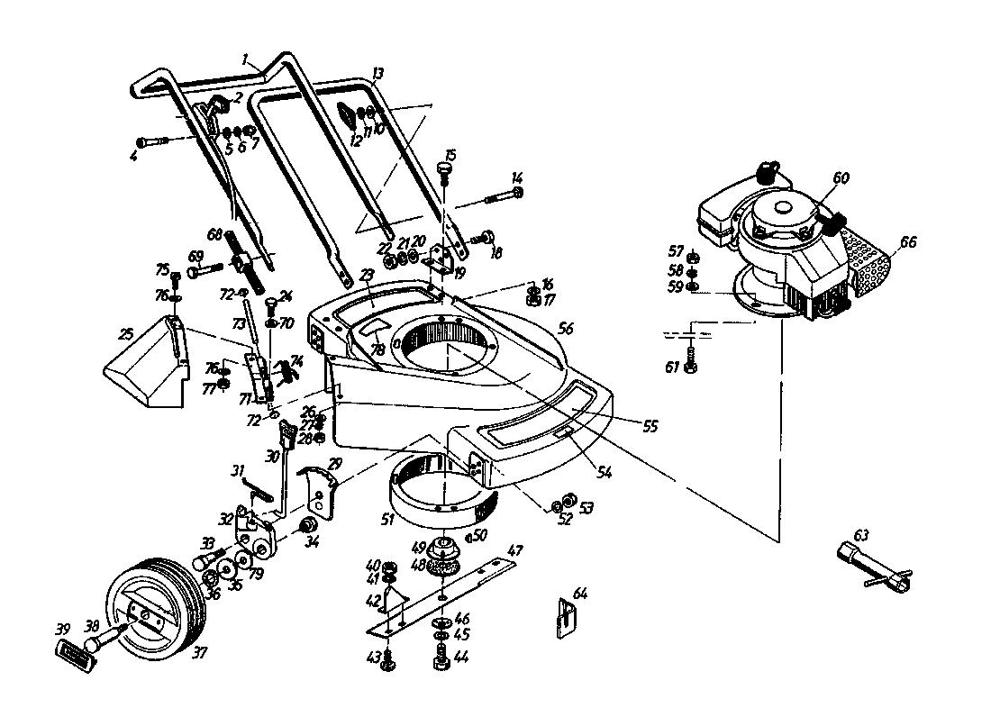 Motorrasenmäher Gutbrod 135 BL 2 T 02869.06 (1987