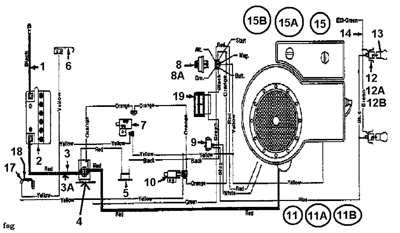 MTD Rasentraktoren 11/91 133C471E600 (1993) Schaltplan