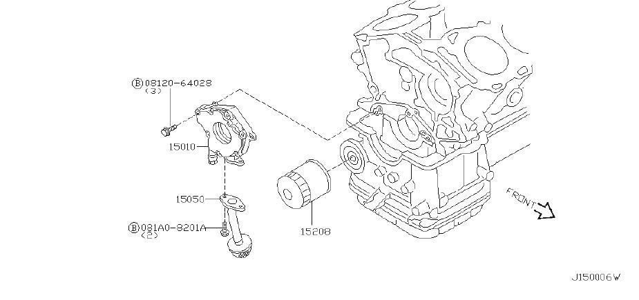 Nissan Maxima Engine Oil Filter. LUBRICATION, LUBRICATING