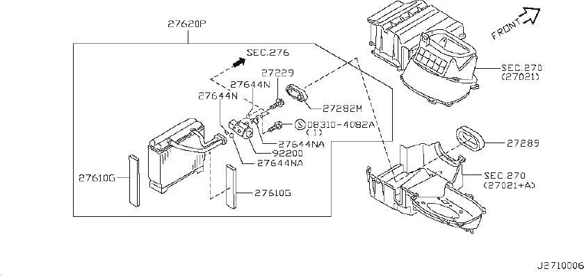Nissan Maxima Sensor Intake. Sensor Thermister. AIR, CON
