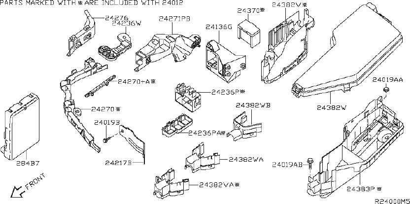 1996 Nissan Maxima Junction Block. HARNESS, EGI, ENGINE
