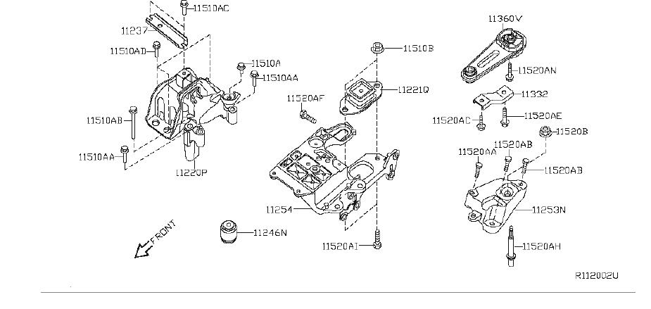 Nissan Sentra Manual Transmission Mount Bracket (Left