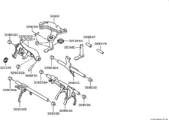 Nissan Sentra Shaft Fork. SHIFT, CONTROL, Transmission