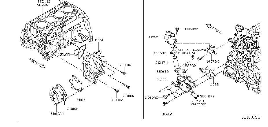 Nissan Juke Engine Coolant Temperature Sensor. System