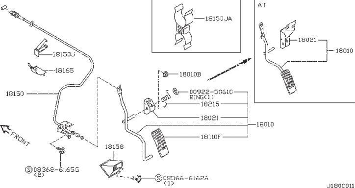 Nissan Pulsar NX Clip Hose. Clip Wiring Harness. VAC, FORA