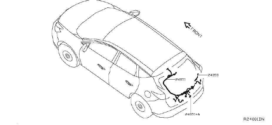 Nissan Murano Alternator Bracket. HARNESS, ENGINE, FRONT