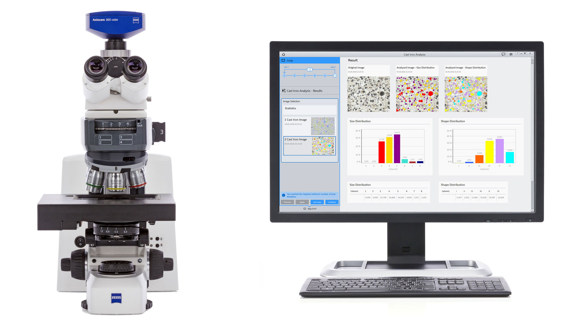 hight resolution of  automation and you also need advanced optical microscopy for materials analysis and metallography being a complete material laboratory solution