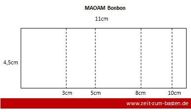 Anleitung MAOAM Veprackung, Bonbon als Tischgeschenk