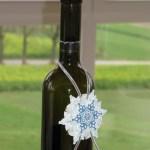 Flaschenanhäger Schneeflocke