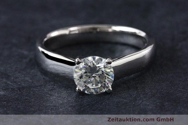Ring Milano 950 Platin Solitr Diamant Brillant 105 CT WERT 8370 EURO  eBay