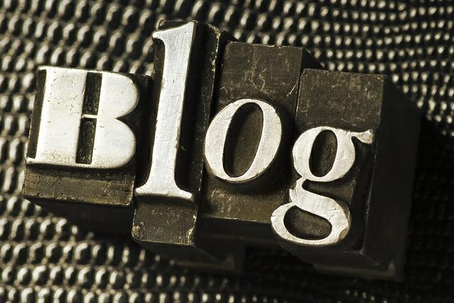 Schriftzug Blog