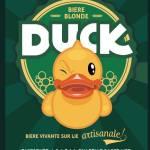 Duck bière artisanale sur lie