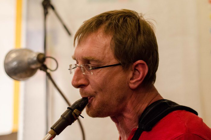 Ronan Le Gouriérec : saxophone baryton, bombarde