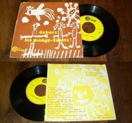 """Michel Arbatz – Dehors Les Mange-Forets! Label: Disques Droug – D 6101 Format: Vinyl, 7"""", Single Pays: France"""