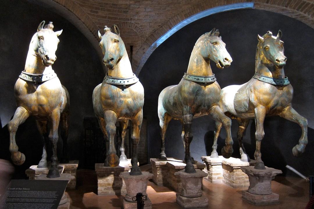 Ulla Pützstück: Venedig, Pferde von San Marco, 2012