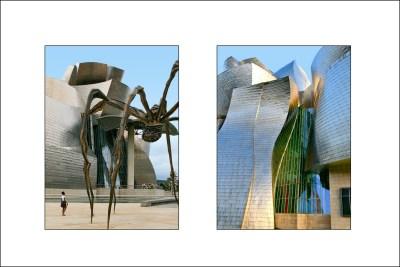 Tommy Pützstück: Maman, Spinnenskupltur von Louise Bourgeois vor dem Gebäude, 2013