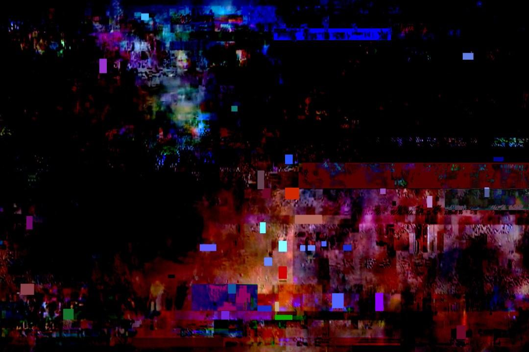 Wolfgang Ahrens: Fernsehbild während eines Schneegestöbers 2015