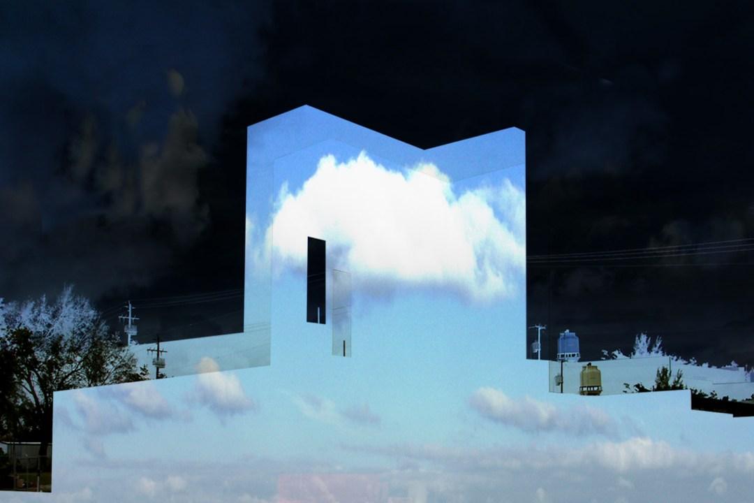 Wolfgang Ahrens Das Haus in den Wolken - Hommage an René Magritte 2019