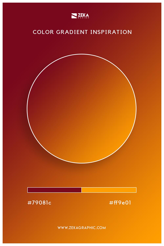 07 Burgundy Orange Peel Autumn Color Gradient Inspiration