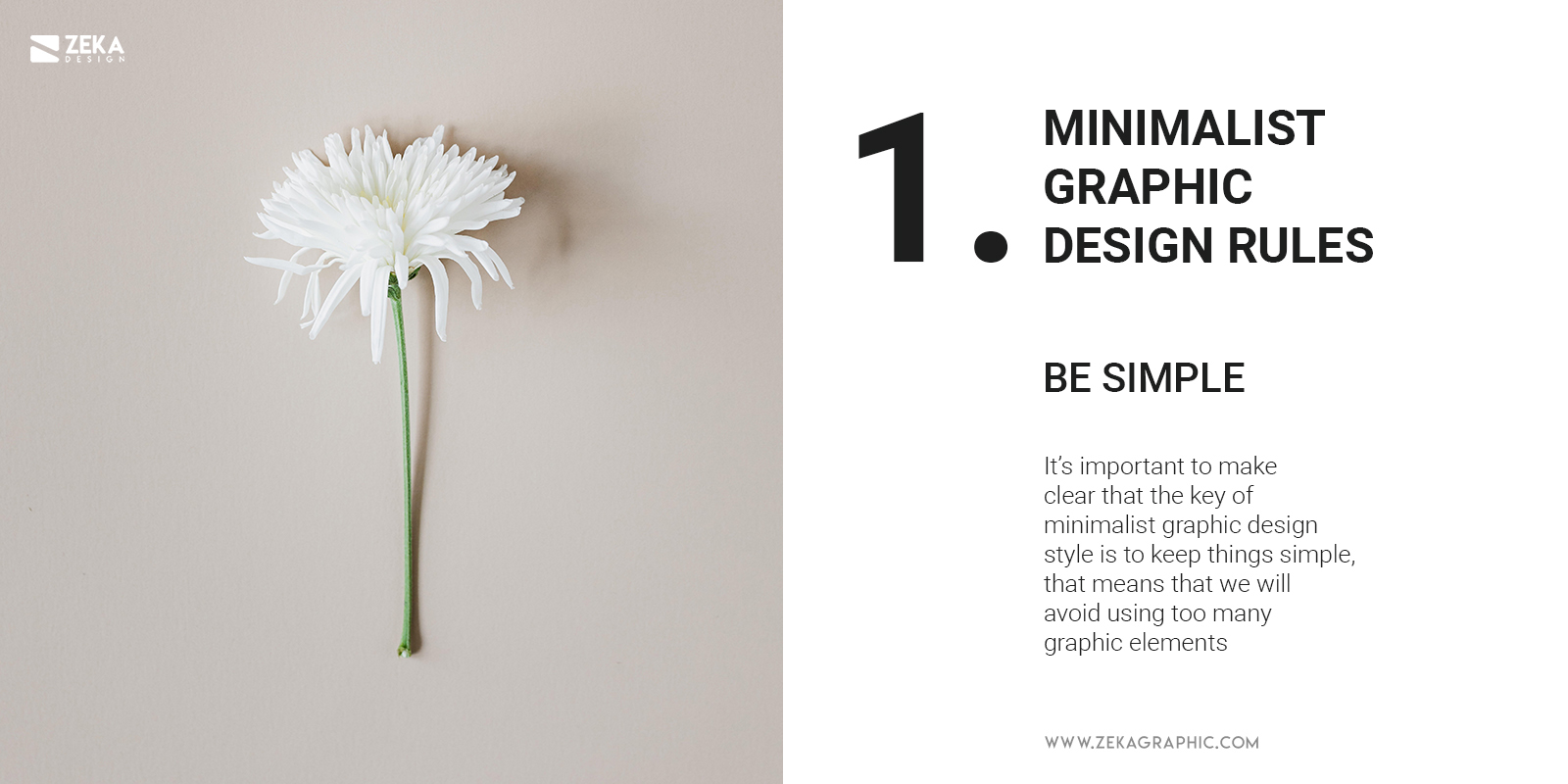 1 Minimalist Graphic Design Rules Be Simple