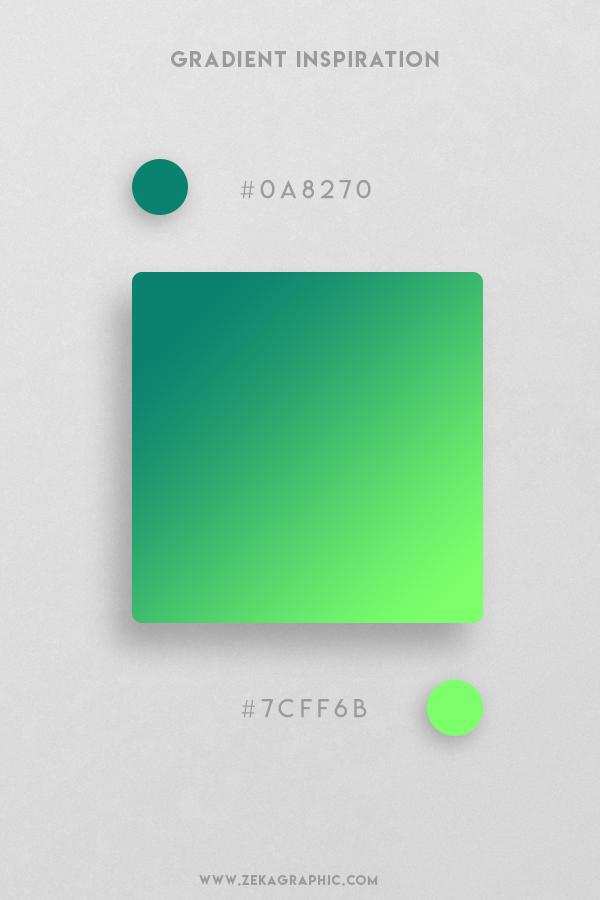 10 Elf Green Neon Green Beautiful Color Gradient Inspiration Design