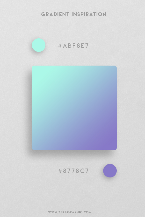 11 Ice Cold Blue Margarite Beautiful Color Gradient Inspiration Design