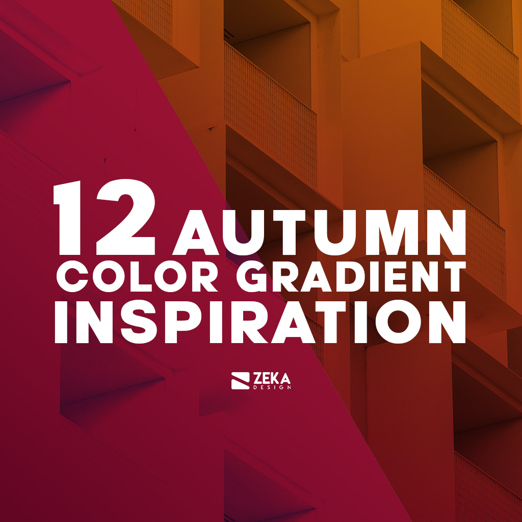 12 Autumn Color Gradient Ideas Graphic Design
