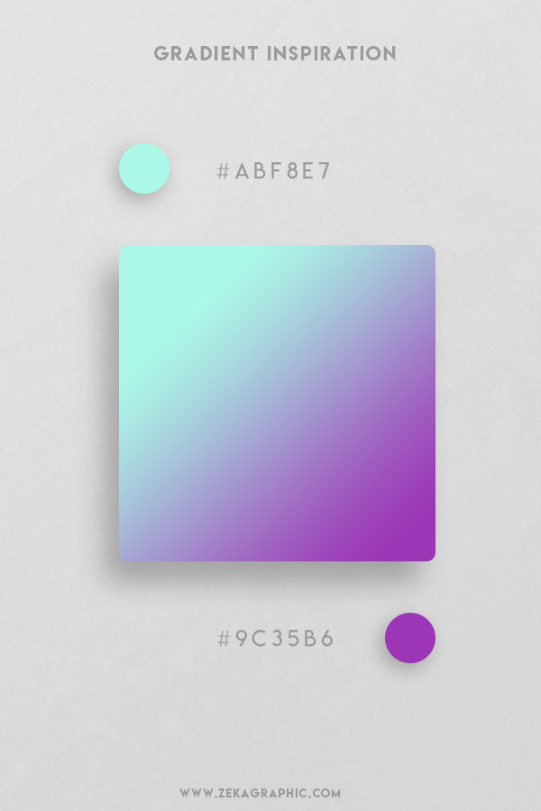 12 Ice Cold Purple Beautiful Color Gradient Inspiration Design