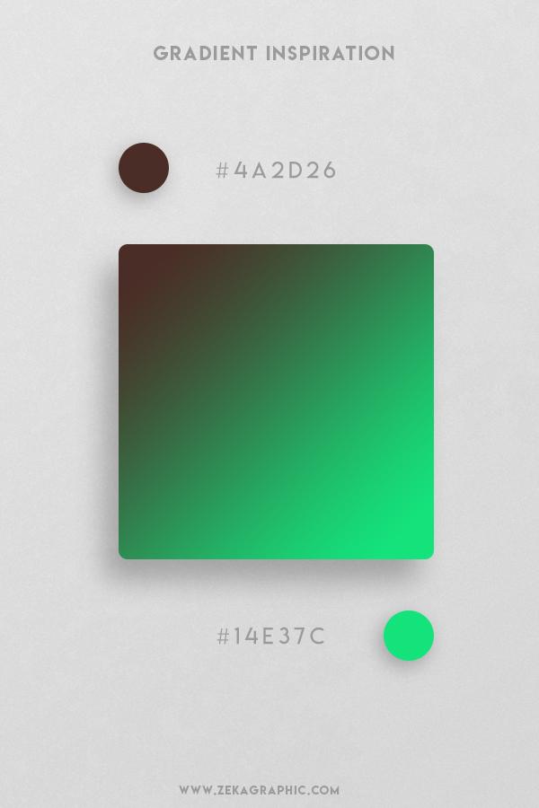 12 Saddle Malachite Beautiful Color Gradient Inspiration Design