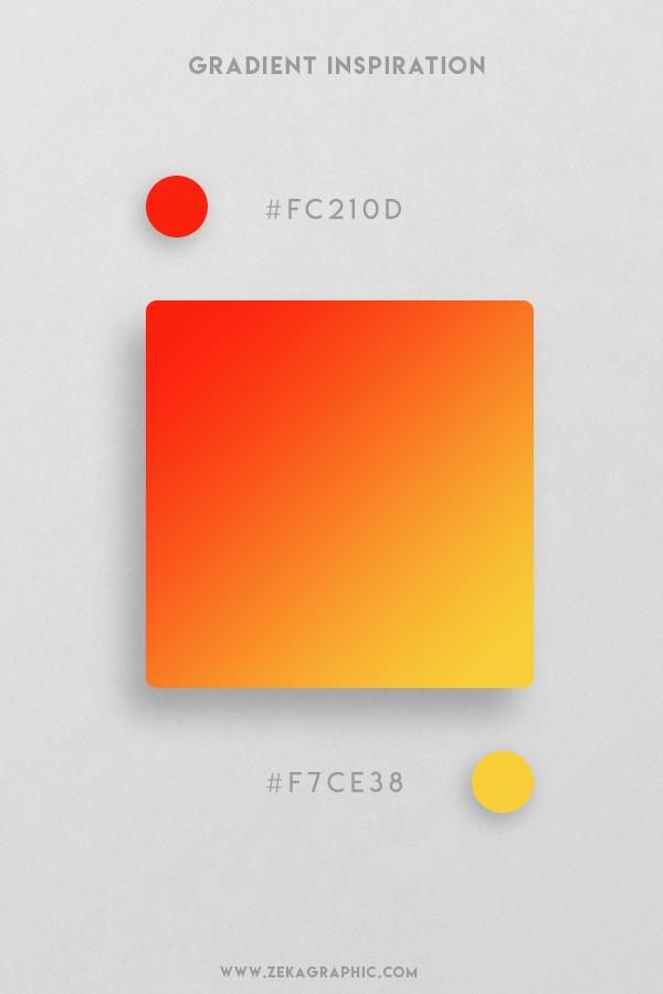 13 Scarlet Saffron Beautiful Color Gradient Inspiration Design