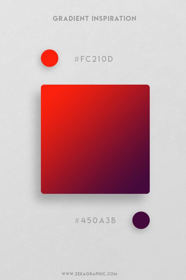 14 Scarlet Blackberry Beautiful Color Gradient Inspiration Design