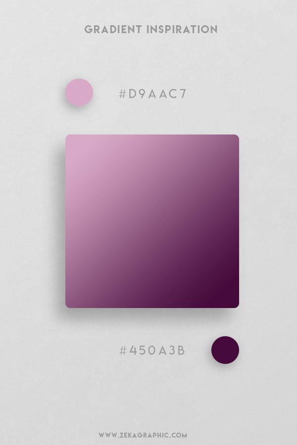 15 Blossom Blackberry Beautiful Color Gradient Inspiration Design