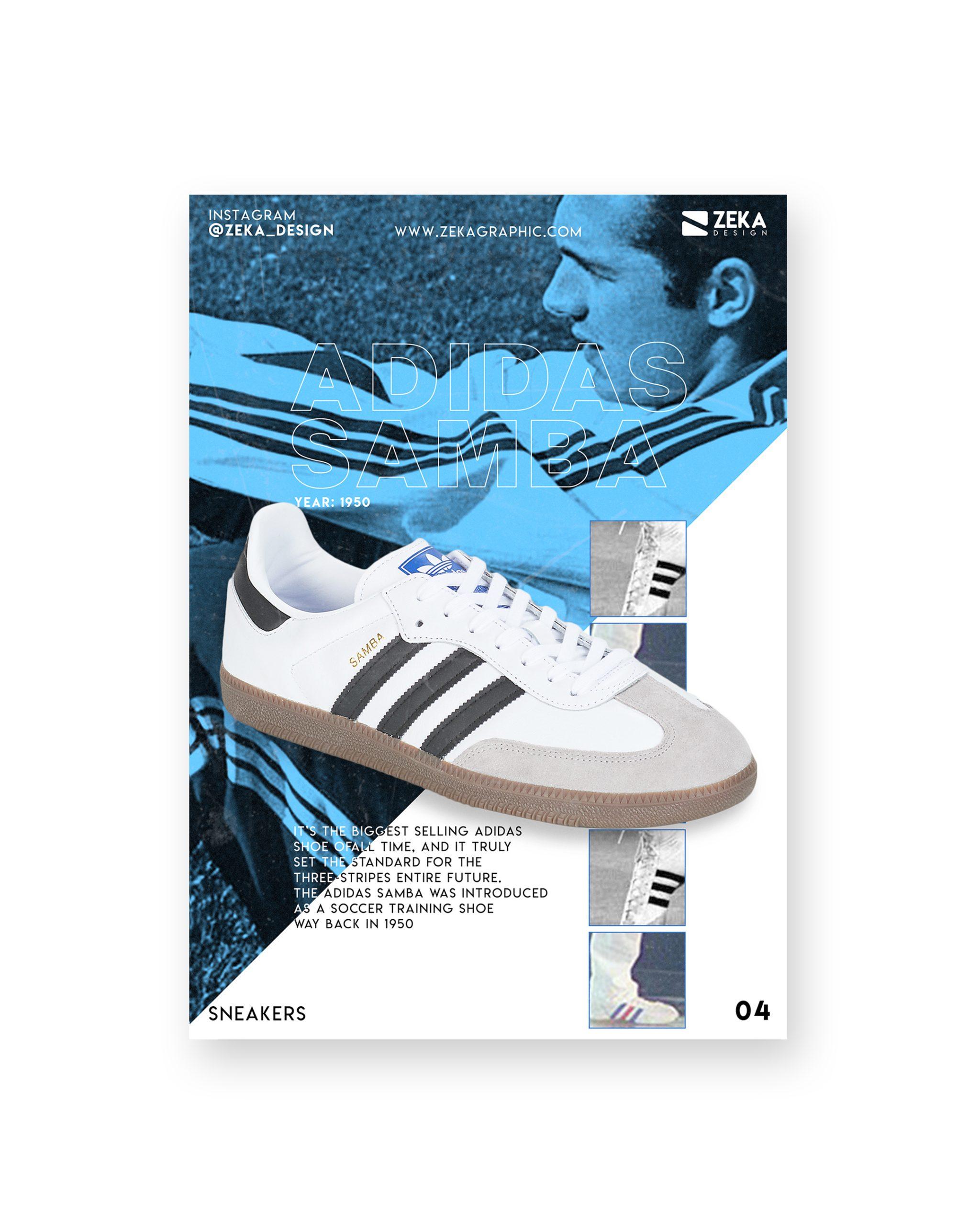2020 Sneakers Poster Design Portfolio Zeka Design