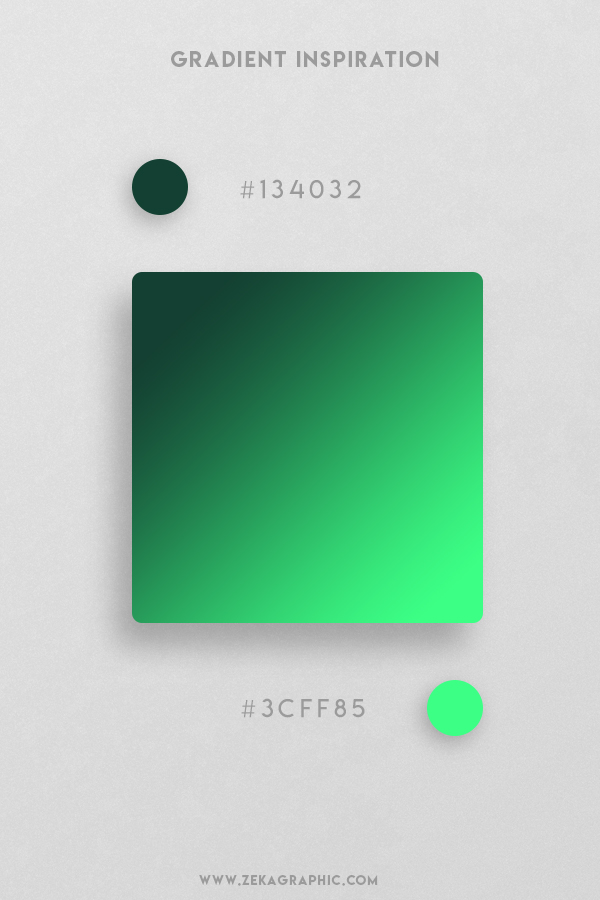 29 Sherwood Green Emerald Beautiful Color Gradient Inspiration Design