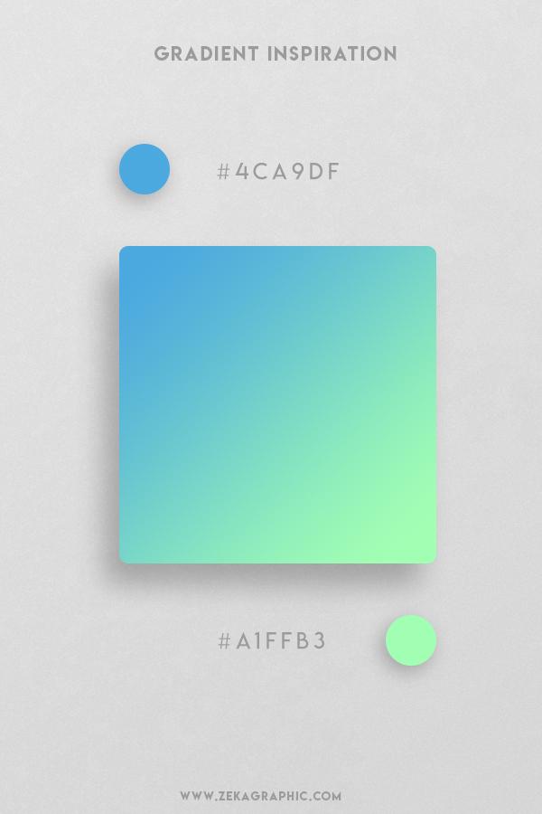 3 Picton Blue Mint Beautiful Color Gradient Inspiration Design