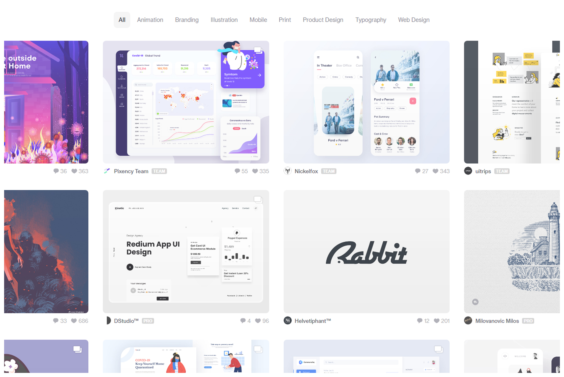 4 Best Website to Graphic Design Inspiration Dribble