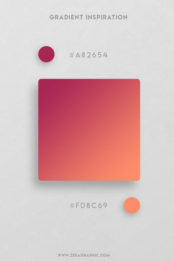 4 Hibiscus Salmon Beautiful Color Gradient Inspiration Design