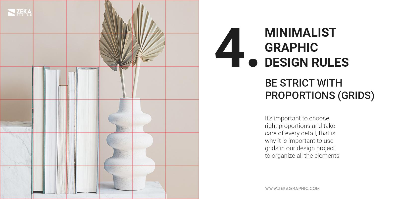 4 Minimalist Graphic Design Rules Grids Organize