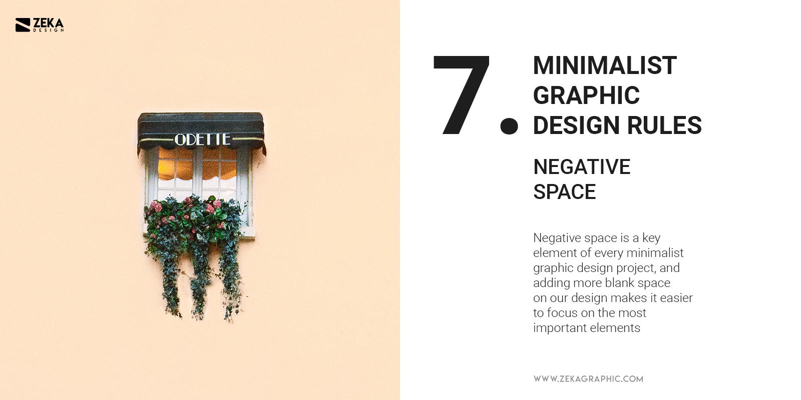 7 Minimalist Graphic Design Rules Negative Space