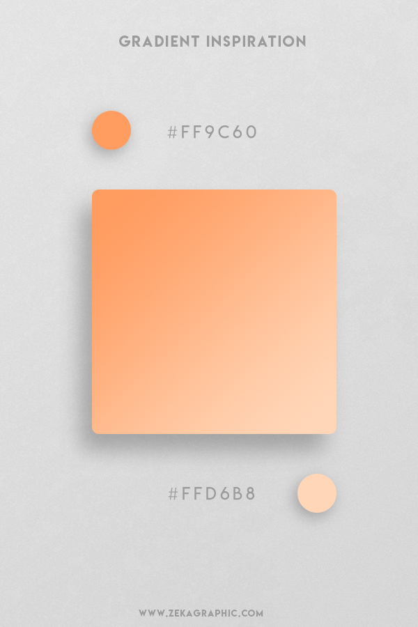 9 Atomic Tangerine Peach Puff Beautiful Color Gradient Inspiration Design