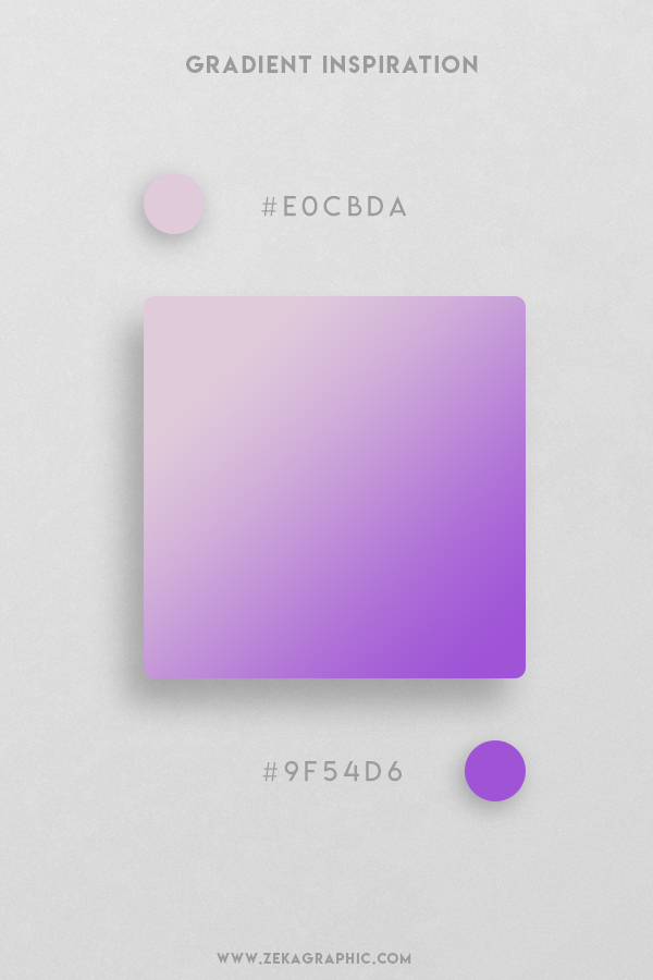 9 Twilight Medium Purple Beautiful Color Gradient Inspiration Design