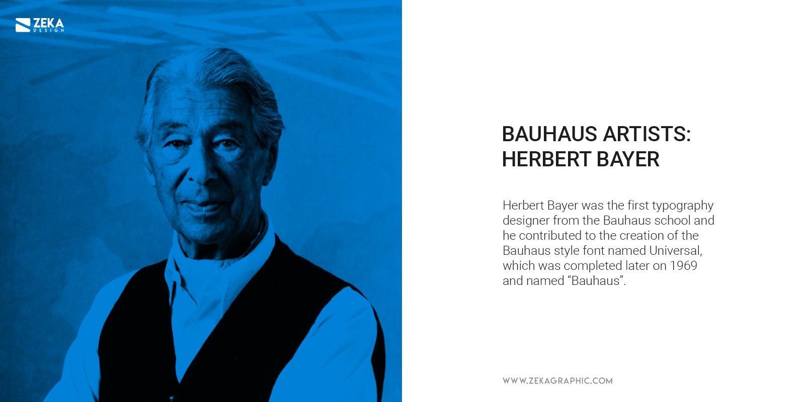 Bauhaus Artist Herbert Bayer Graphic Design Typography
