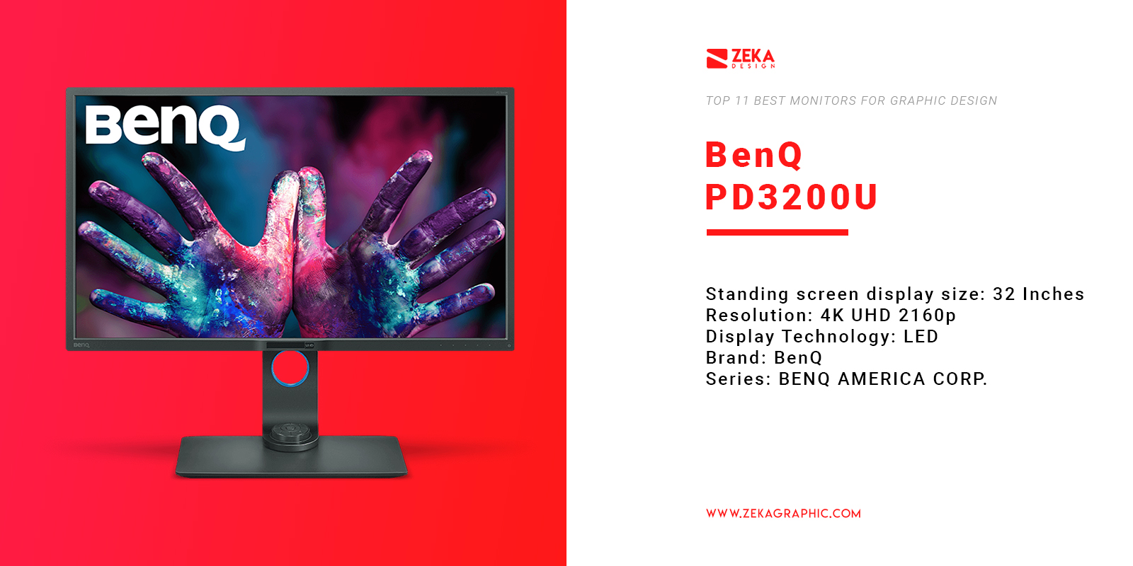 BenQ PD3200U 4K Monitor for Graphic Design