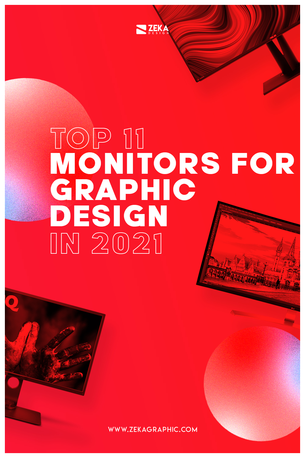 Best Monitors for Graphic Design 2021 Pin
